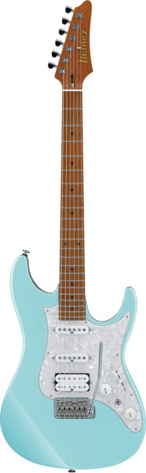 IBANEZ AZ-Series E-Gitarre 6 String Sea Foam Blue + Case M20AZ