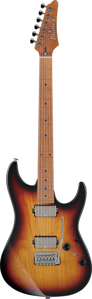 BANEZ AZ-Series E-Gitarre 6 String Tri Fade Burst + Case M20AZ