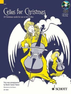 Cellos for Christmas (+CD) 20 Christmas Carols for 1-2 cellos