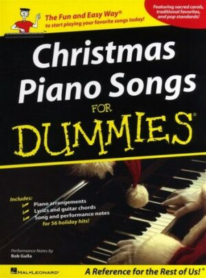 Christmas Piano Songs for Dummies songbook piano/vocal/guitar