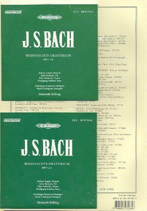 Weihnachtsoratorium BWV248 für Soli, Chor und Orchester Klavierauszug