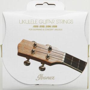 IBANEZ Saiten Set für 4 String Sopran/Konzert Ukulele .025/.032/.036/.028 Black Nylon