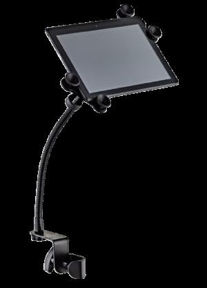 ORTEGA Deluxe Tablet inkl. Schwanenhals mit Befestigungsklammer schwarz