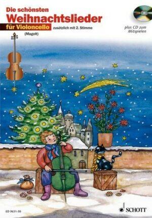 Die schönsten Weihnachtslieder (+CD) für 1-2 Violoncelli (mit Text)