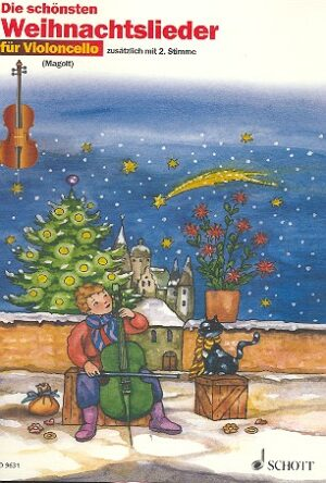 Die schönsten Weihnachtslieder für 1-2 Violoncelli (mit Text)