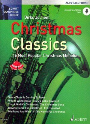 Christmas Classics mit Audio Code für Altsaxophon und Klavier (mit Texten und Akkorden)