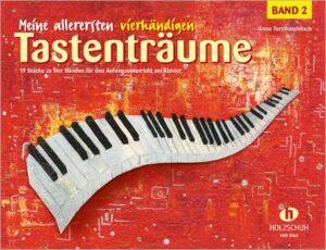 Meine allerersten vierhändigen Tastenträume Band 2 für Klavier zu 4 Händen Spielpartitur