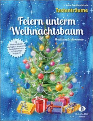 Unterm Weihnachtsbaum für Klavier (mit Text) (Gesang ad lib) Partitur und Singstimme