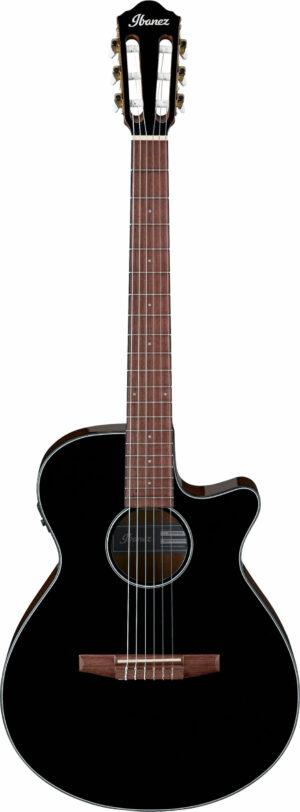 IBANEZ AEG Series Akustik/Elektrische-Gitarre 6 String Black High Gloss