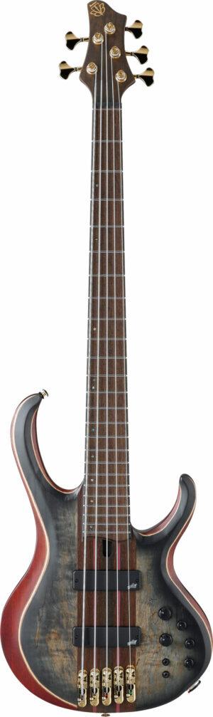 IBANEZ BTB Premium Series E-Bass 5 String Surreal Black Burst Flat + Bag