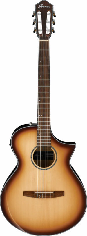 IBANEZ AEWC Series Acoustic Guitar Nylon 6 String Natural Browned Burst High Gloss
