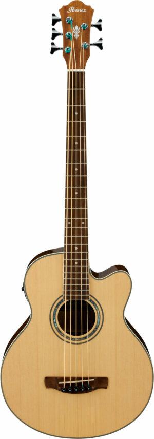 IBANEZ AEB Series Akustik Bass 5 String Natural High Gloss