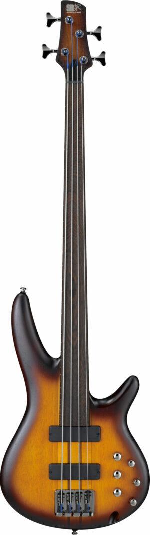IBANEZ Bass Workshop E-Bass Fretless 4 String Brown Burst Flat
