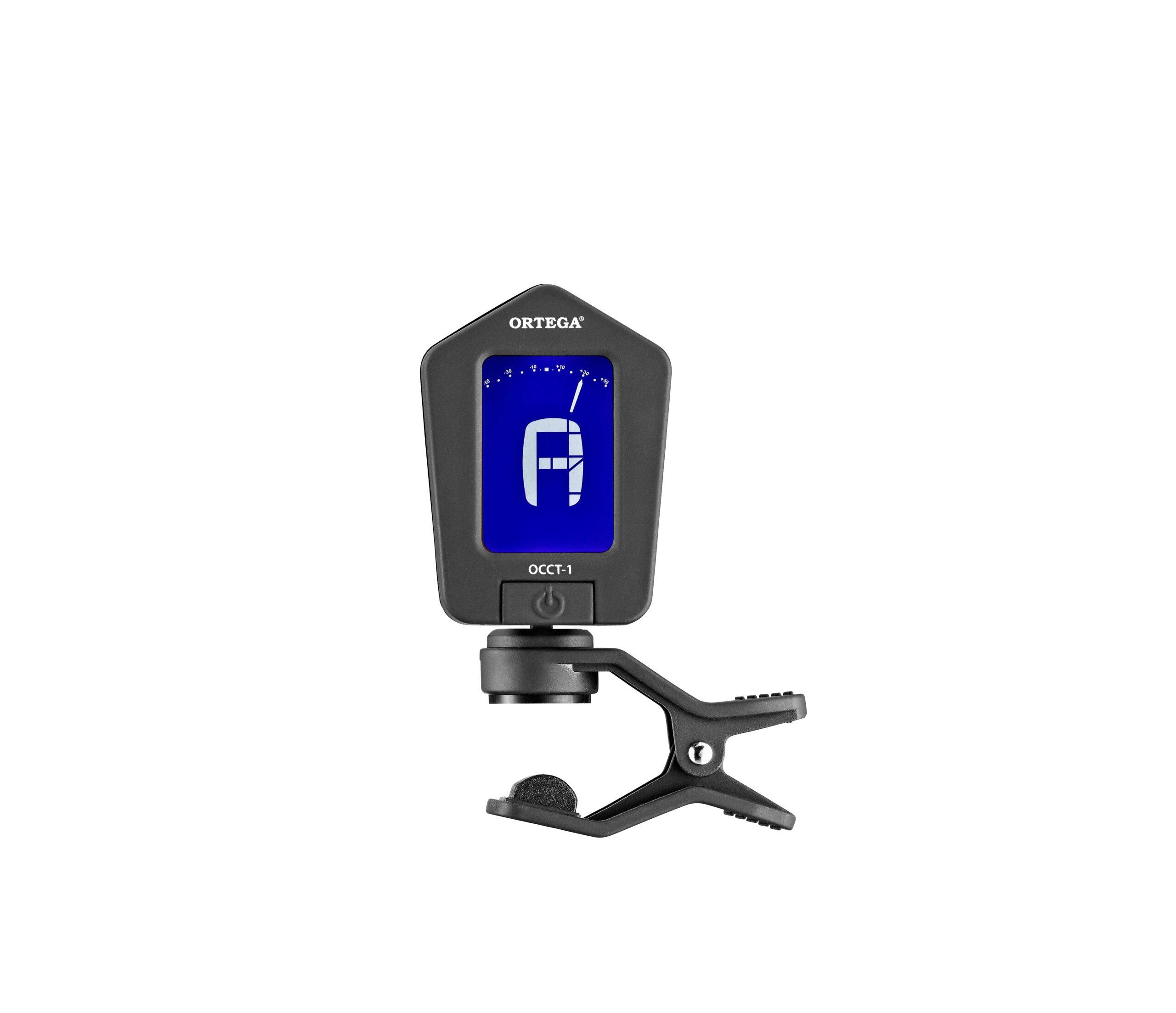 ORTEGA Chromatisches Clip-on Stimmgerät mit zweifarbigem Display schwarz