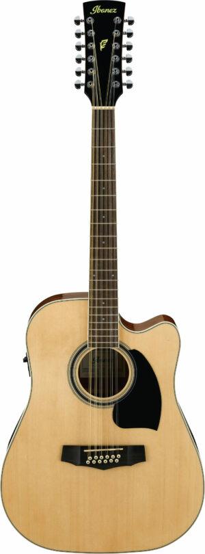 IBANEZ PF-Serie Akustikgitarre 12 String Natural High Gloss