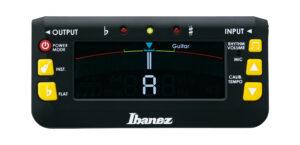IBANEZ Chromatisches / Automatisches Stimmgerät mit eingebautem Metronom für Gitarre, Bass, Ukulele