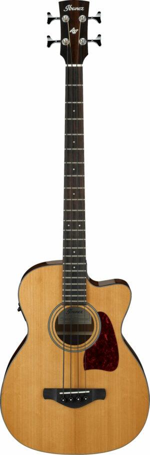 IBANEZ Artwood Vintage Akustik Elektro Bass 4 String Natural Low Gloss
