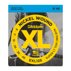 EXL125 D'Addario EXL125 Saiten für E-Gitarre, mit Nickel umsponnen, Super Light Top/Regular Bottom, 9-46