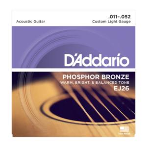 EJ26 D'Addario EJ26 Saiten für Akustikgitarre, Phosphorbronze, Custom Light, 11-52