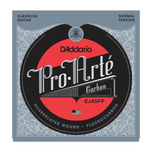 EJ45FF D'Addario EJ45FF ProArte Carbon Classical Guitar Strings, Dynacore Basses, Normal Tension