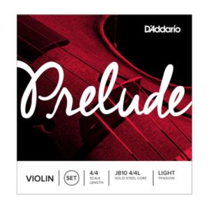 J810 4/4L D'Addario Prelude Violinen-Saitensatz, 4/4, leichte Spannung