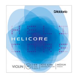 H310 4/4M D'Addario Helicore Violinen-Saitensatz, 4/4, mittlere Spannung