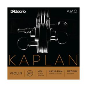 KA310 4/4M D'Addario Kaplan Amo Violin Saiten Satz 4/4 Größe, mittlere Spannung