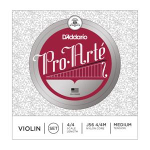 J56W 4/4M D'Addario Pro-Arte Violinen-Saitensatz, umsponnenes (E), 4/4, mittlere Spannung