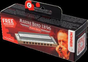 HOHNER Mundharmonika, Marine Band - Classic, D, Small Box