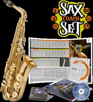 "JUPITER Eb Altsaxophon, Goldlack, ""Sax Coach Set"", JAS700Q-SCS"