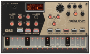 KORG Synthesizer, digital, volca drum, Physical Modelling, 6 parts, Sequenzer