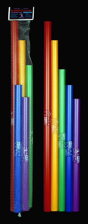 Chromatischer Bass Ergänzungssatz zu BW-JG mit 5 Boomwhackers C# - D# - F# - G# - A#/Bb