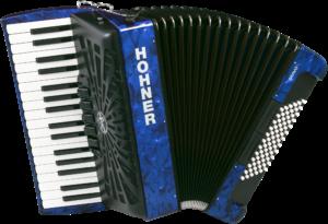 HOA16642 HOHNER Akkordeon, Bravo III 72, blau, silent key