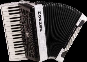 HOA16712 HOHNER Akkordeon, Bravo III 96, weiß, silent key