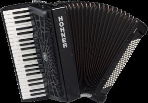 HOA16822 HOHNER Akkordeon, Bravo III 120, schwarz, silent key