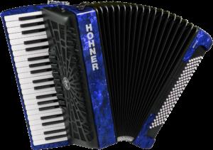 HOA16842 HOHNER Akkordeon, Bravo III 120, blau, silent key