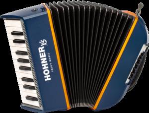 HOA2900 HOHNER Akkordeon, XS, blau-orange, für Einsteiger
