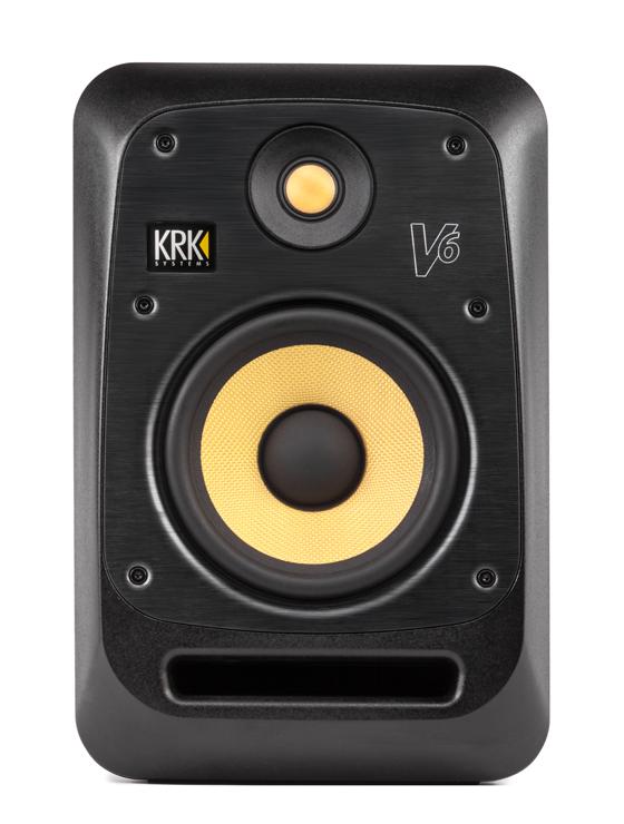 """KRK Studiomonitor, Nahfeld, aktiv, V6S4, 155 Watt, 6,5""""/1"""", schwarz"""