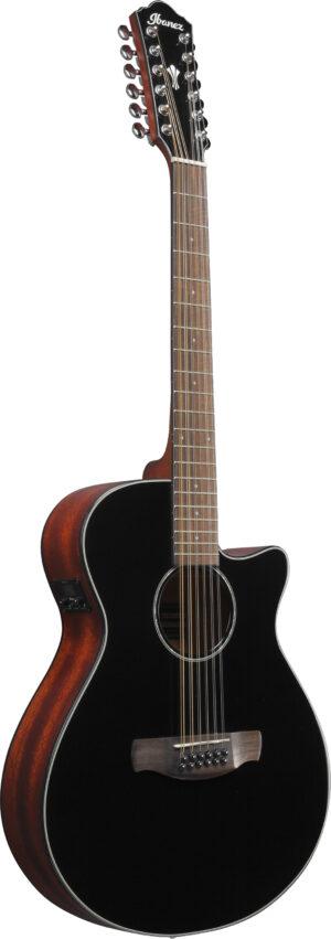 IBANEZ AEG Series Akustikgitarre 12 String Black High Gloss
