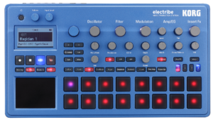 KORG Synthesizer, digital, ELECTRIBE2B, 400 Sounds, blau