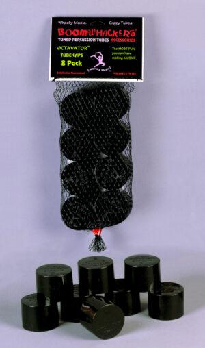 8 aufsteckbare Kappen passend für alle Boomwhackers Röhren lassen Boomwhackers eine Oktave tiefer klingen