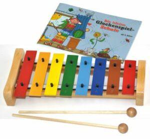 Das bunte Glockenspiel-Set Die kleine Glockenspielschule mit Instrument