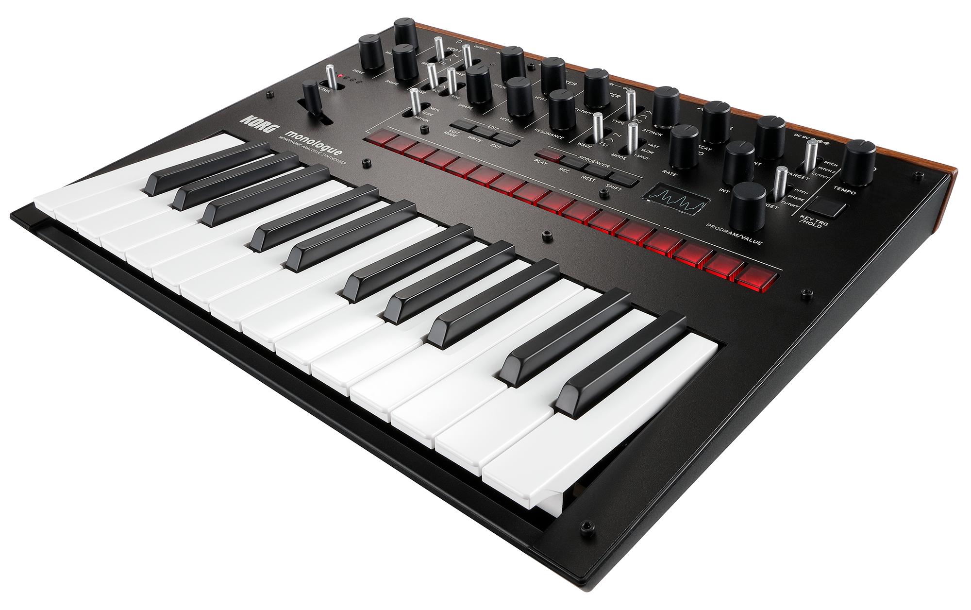 KORG Synthesizer, analog, monologue, 25 Tasten, schwarz