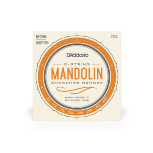 EJ74 D'Addario EJ74 Mandolin Strings, Phosphor Bronze, Medium, 11-40
