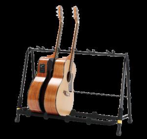 HERCULES Gitarrenrack, klappbar, für 5 Instrumente