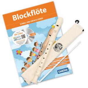 Blockflöten Set - Deutsche Griffweise Sparpaket mit Blockflöte und Schule